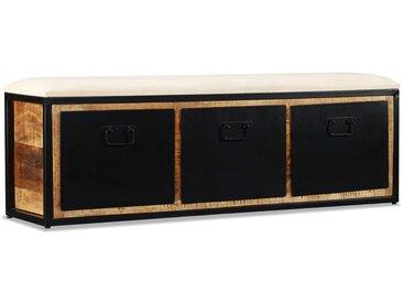 Banc de rangement avec 3 tiroirs Bois de manguier 120x30x40 cm - vidaXL