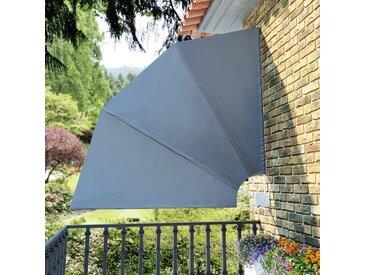 Auvent latéral pliable de balcon Gris 210 x 210 cm - vidaXL