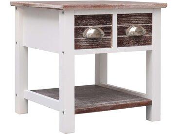 Table d'appoint Marron 40x40x40 cm Bois de Paulownia - vidaXL