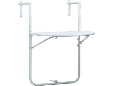 Table de balcon Blanc 60x64x83,5 cm Plastique Aspect de rotin - vidaXL