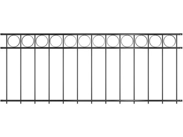 Panneau de clôture Acier 1,96x0,8 m Noir - vidaXL
