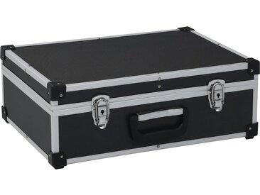 Valise à outils 46 x 33 x 16 cm Noir Aluminium - vidaXL