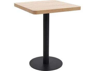 Table de bistro Marron clair 60x60 cm MDF - vidaXL