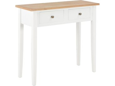Table de console et coiffeuse Blanc 79x30x74 cm Bois - vidaXL
