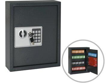 Coffre-fort à clés Gris foncé 30 x 10 x 36,5 cm - vidaXL