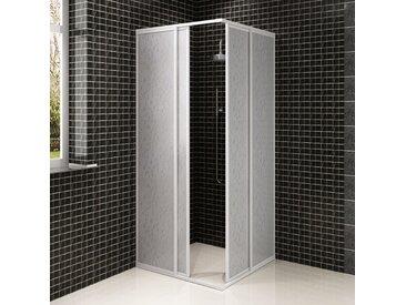 Cabine de douche en aluminium 90 x 90 cm - vidaXL