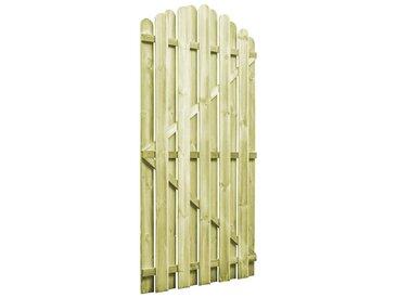 Portail de jardin Bois pin imprégné 100x175 cm Design d'arche - vidaXL