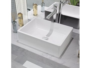 Lavabo Céramique Blanc 41 x 30 x 12 cm - vidaXL