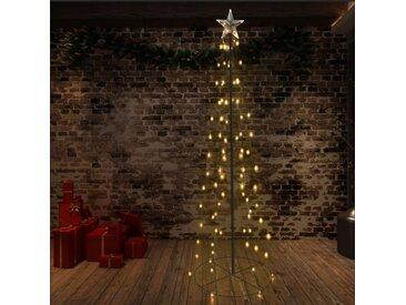 Arbre de Noël cône 140 LED d'intérieur/d'extérieur 72x240 cm - vidaXL