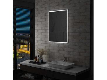 Miroir mural à LED pour salle de bains 60 x 80 cm - vidaXL