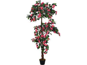 Plante artificielle Rhodondendron avec pot Rose 165 cm - vidaXL