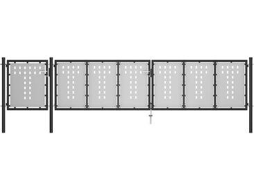 Portail de jardin Acier 500 x 100 cm Noir - vidaXL
