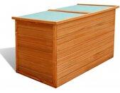 Boîte de rangement de jardin 126 x 72 x 72 cm Bois - vidaXL