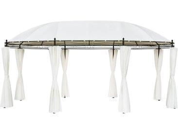 Chapiteau 530x350x265 cm Blanc crème - vidaXL