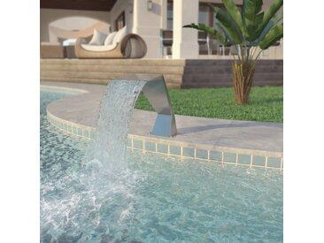 Fontaine d'étang Acier inoxydable 64 x 30 x 52 cm Argenté   - vidaXL