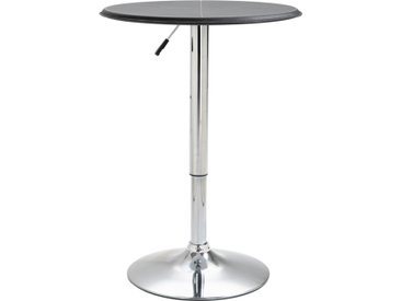 Table de bar Noir Ø60 cm MDF - vidaXL