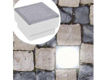 6 lampes LED d'éclairage incorporées au sol 100 x 100 x 68 mm - vidaXL
