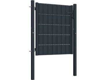 Portail de clôture Acier 100x81 cm Anthracite    - vidaXL