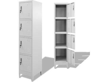 Armoire à casiers avec 4 compartiments 38 x 45 x 180 cm   - vidaXL