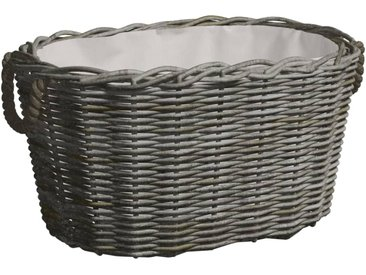 Panier à bois de chauffage avec poignées 60x40x28 cm Gris Saule - vidaXL