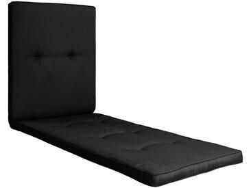 Coussin de chaise longue Noir 118x60x5 cm - vidaXL