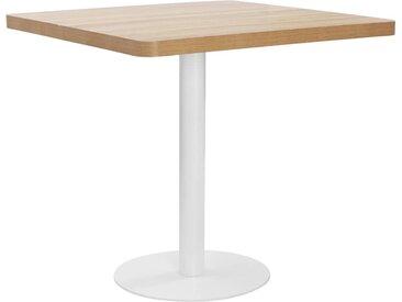 Table de bistro Marron clair 80x80 cm MDF - vidaXL