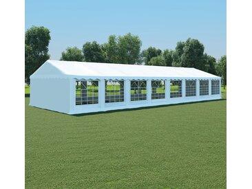 Chapiteau de jardin PVC 6 x 16 m Blanc - vidaXL