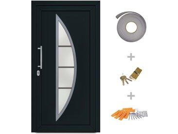 Porte d'entrée principale Anthracite 98x200 cm - vidaXL
