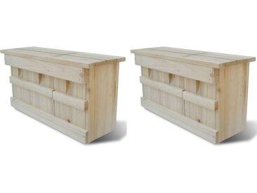 Maisons pour moineau 2 pcs Bois 44 x 15,5 x 21,5 cm - vidaXL