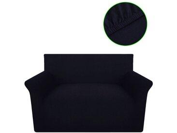 Housse extensible de canapé Noir Jersey de coton  - vidaXL