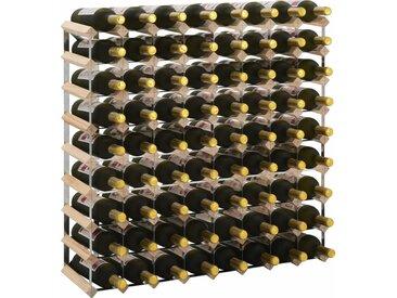 Casier à bouteilles pour 72 bouteilles Pinède solide - vidaXL