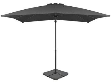 Parasol avec base portable Anthracite - vidaXL