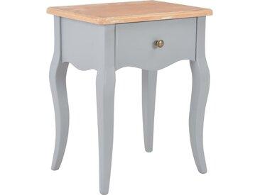 Table de chevet Gris et marron 40x30x50 cm Bois de pin massif - vidaXL