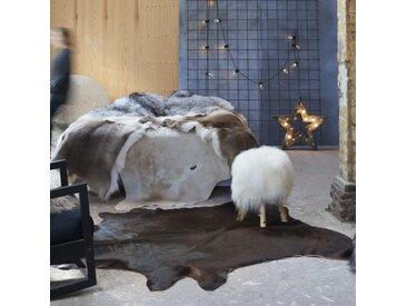 Tapis en peau de vache véritable 150 x 170 cm Marron - vidaXL