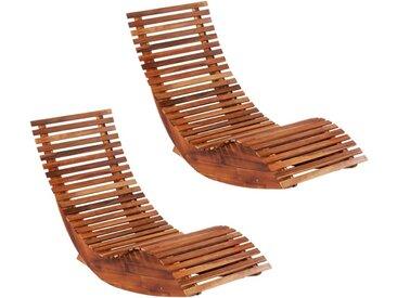 Chaises longues basculantes 2 pcs Bois d'acacia - vidaXL