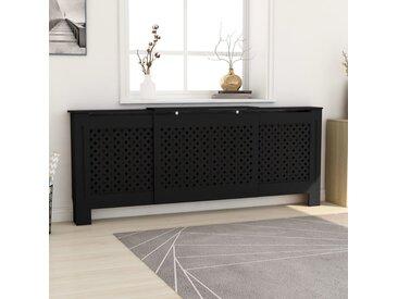 Cache-radiateur MDF Noir 205 cm - vidaXL