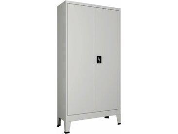 Armoire de bureau avec 2 portes Acier 90 x 40 x 180 cm Gris - vidaXL