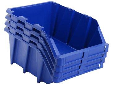 Bac de rangement empilable 35 pcs 218x360x156 mm Bleu - vidaXL