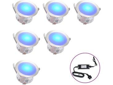 Lampes de sol à LED 6 pcs Bleu  - vidaXL