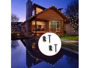 Guirlande lumineuse solaire LED 2 pcs Blanc chaud - vidaXL