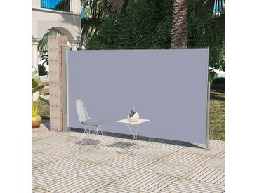 Auvent latéral rétractable 160 x 300 cm Gris - vidaXL