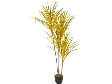 Plante artificielle avec pot Dracaena Jaune 125 cm - vidaXL