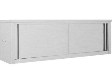 Armoire de cuisine avec portes coulissantes 150x40x50 cm Inox - vidaXL