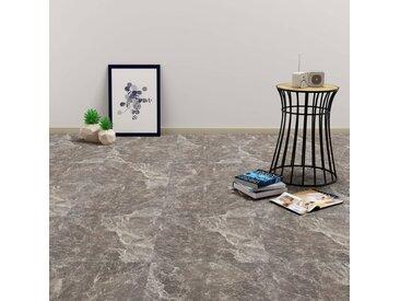 Planche de plancher PVC autoadhésif 5,11 m² Noir Marbre - vidaXL
