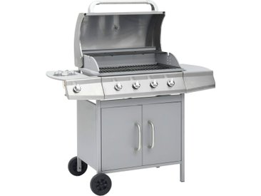 Barbecue à gaz 4+1 zones de cuisson Argenté  - vidaXL