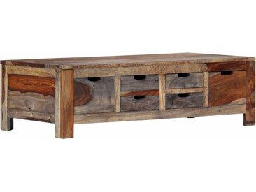 Table basse Gris 100 x 55 x 30 cm Bois de Sesham massif - vidaXL