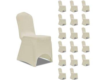 Housses élastiques de chaise Crème 18 pcs - vidaXL