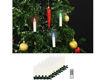 Bougies LED sans fil de Noël avec télécommande 50 pcs RVB - vidaXL