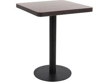 Table de bistro Marron foncé 60x60 cm MDF - vidaXL