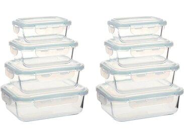 Récipients alimentaires en verre 8 pcs - vidaXL